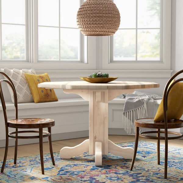 Abella Center Pedestal Table by Loon Peak