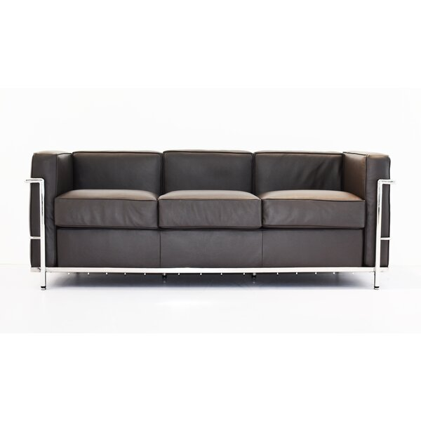 Byer Leather Sofa by Orren Ellis