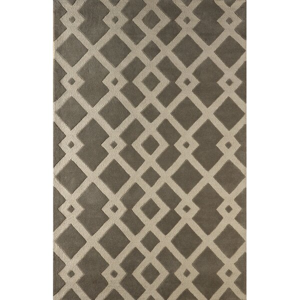Glenside Hand-Tufted Soot/Brown Area Rug by Mercer41