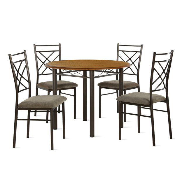 Janiya 5 Piece Dining Set by Winston Porter