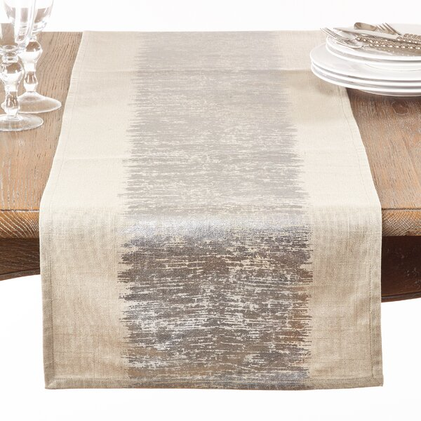Pimlico Banded Table Runner by Mercury Row