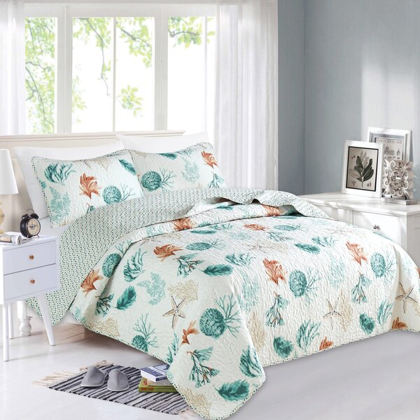 Candis Reversible Quilt Set by Highland Dunes