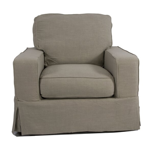 Columbus Box Cushion Armchair Slipcover by August Grove