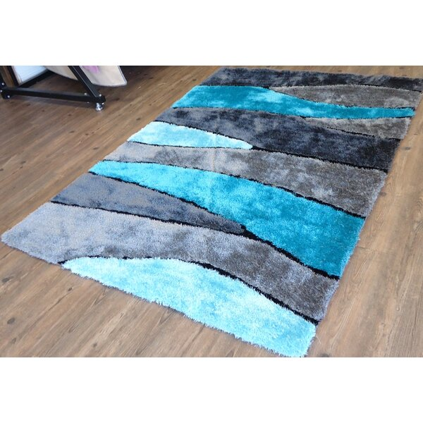 Clifton Abstract Design Hand-Tufted Turquoise Area Rug by Orren Ellis