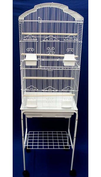 Shell Top Small Bird Cage with Stand by YML