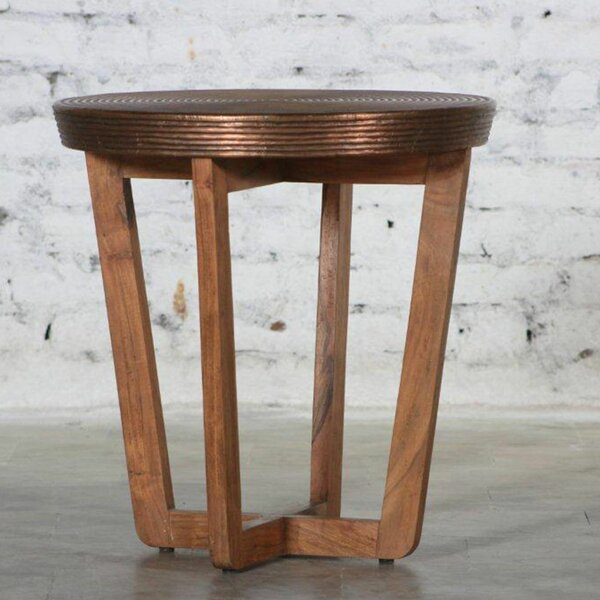 Erin Wooden Accent Stool by Bloomsbury Market