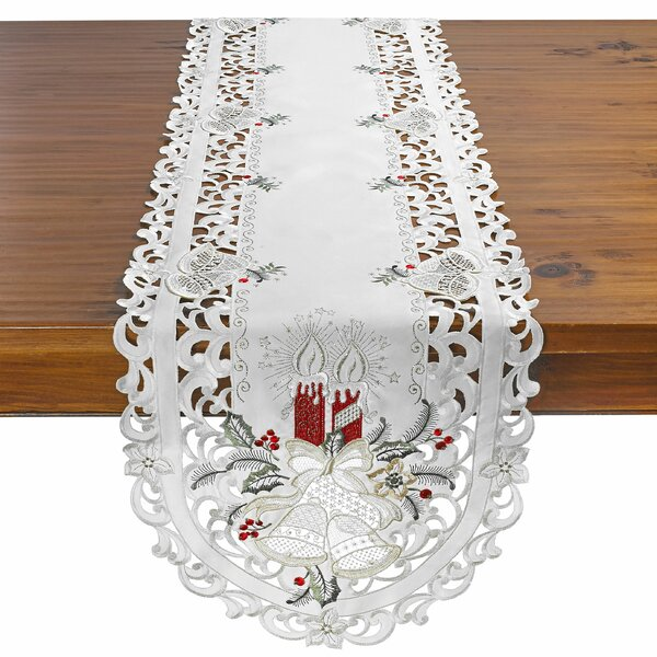 Delsur Candle and Bells Table Runner by The Holiday Aisle