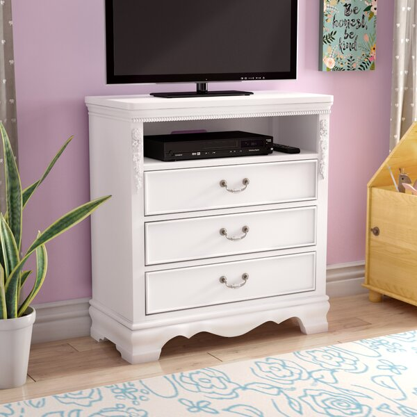Weidler 3 Drawer Chest with Media Shelf by Viv + Rae