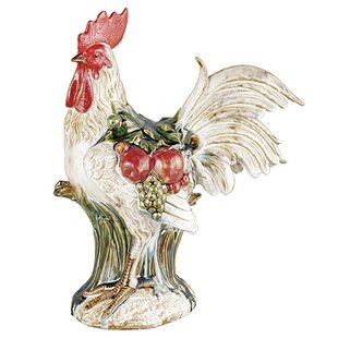 Famous French Country Rooster Statue | Wayfair LZ79
