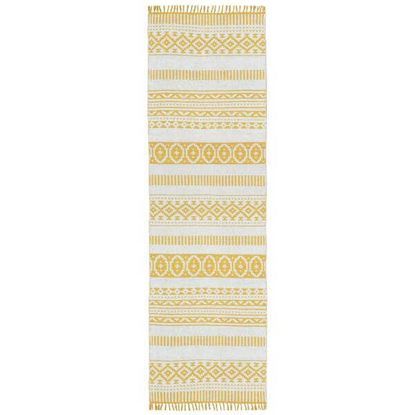 Bruges Hand-Loomed Yellow Area Rug by Bungalow Rose