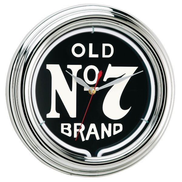 12 Old No. 7 Neon Wall Clock by Jack Daniel's Lifestyle Products