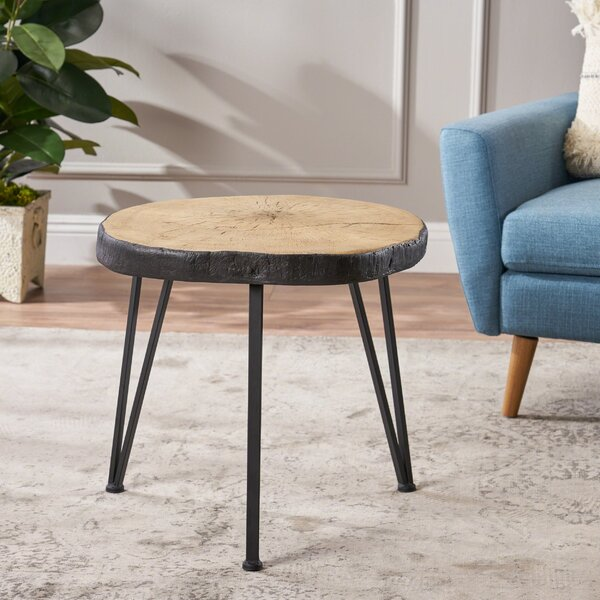 Overton Light Weight Concrete End Table By Union Rustic