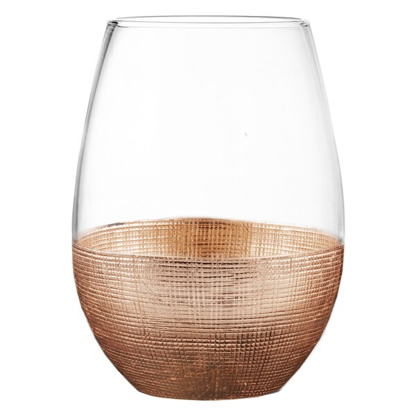 Linen 20 oz. Stemless Glass (Set of 4) by Fitz and Floyd