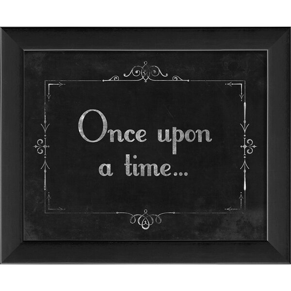 Silent Movie Once Upon a Time Framed Textual Art b