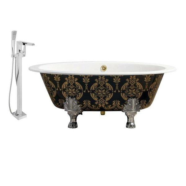 Cast Iron 65 x 35 Clawfoot Soaking Bathtub by Streamline Bath