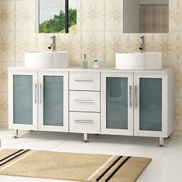 Swearingen 59 Double Vessel Modern Bathroom Vanity Set by Ebern Designs