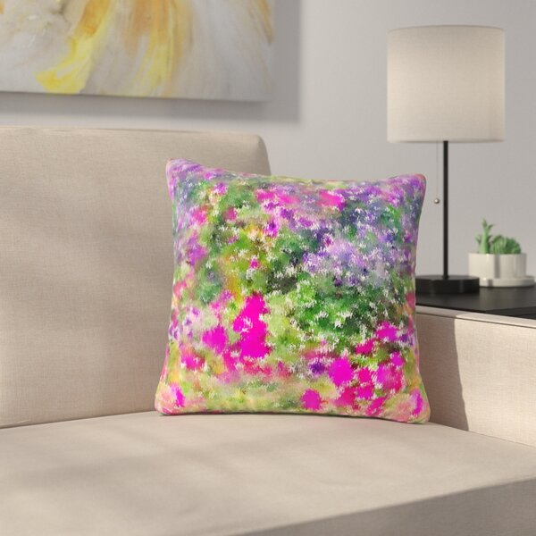 Carolyn Greifeld Water Florals Outdoor Throw Pillow by East Urban Home