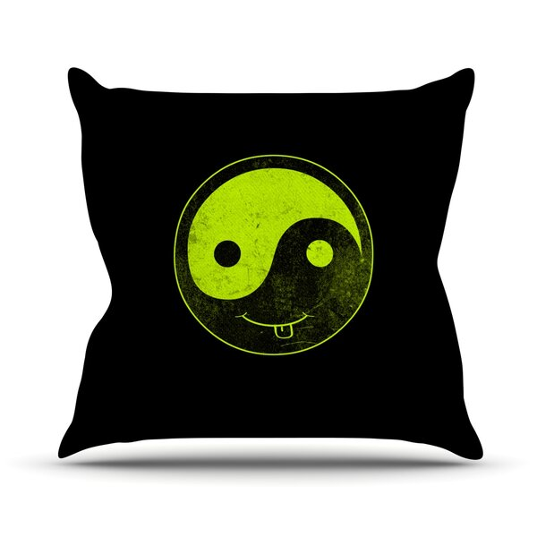 Ying Yang by Frederic Levy-Hadida Outdoor Throw Pillow by East Urban Home