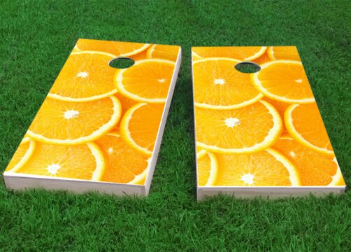 Oranges Cornhole Game (Set of 2) by Custom Cornhole Boards