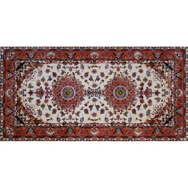 Mcgarry Hand Look Persian Wool Ivory/Red Area Rug