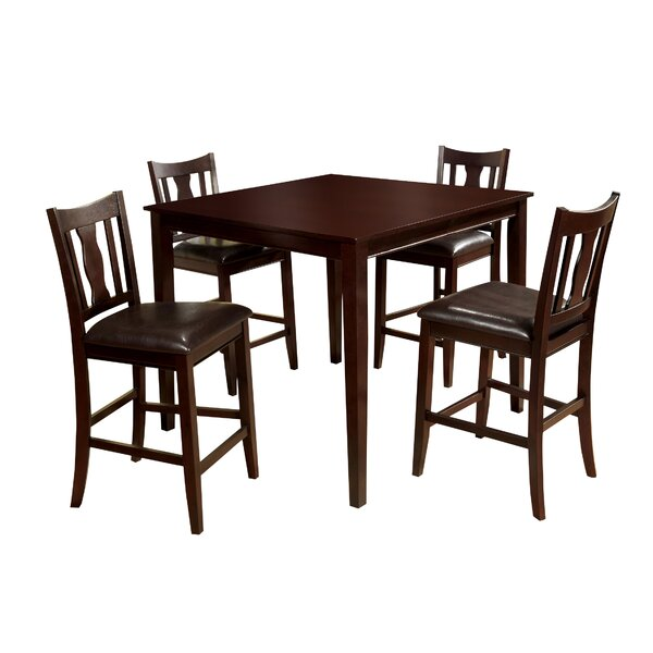 Petite 5 Piece Counter Height Dining Set by Hokku Designs