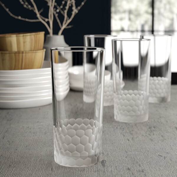 Lebanon 13 oz. Highball Glass Set (Set of 4) by Greyleigh
