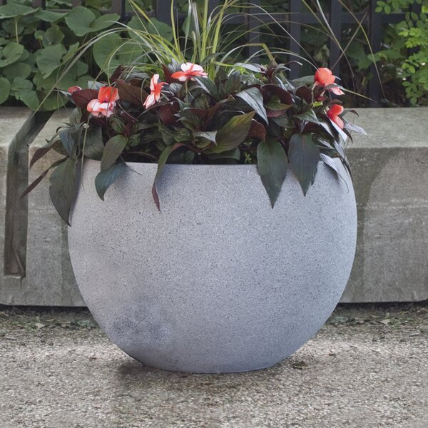 Origins Terrazzo Round Composite Pot Planter by Pride Garden Products