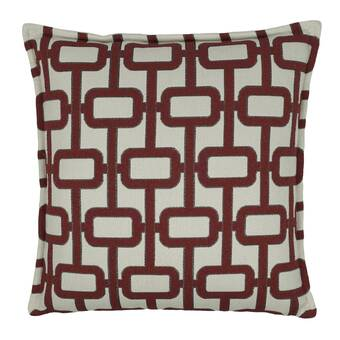 Set of 2 Newport Throw Feather Pillows Red Plaid NEW