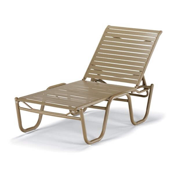 Reliance Strap Reclining Chaise Lounge (Set of 4) by Telescope Casual