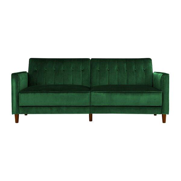 Emerald Green Velvet Sofa
