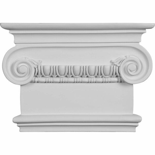 Classic 8 1/2H x 7 1/2W x 2 1/2P Ionic Large Onlay Capital by Ekena Millwork
