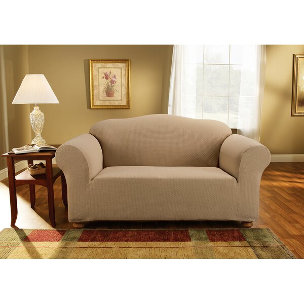 Simple Stretch Subway Box Cushion Loveseat Slipcover by Sure Fit