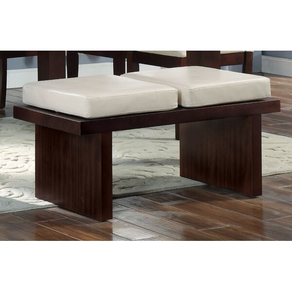 Harker Faux Leather Bench by Charlton Home