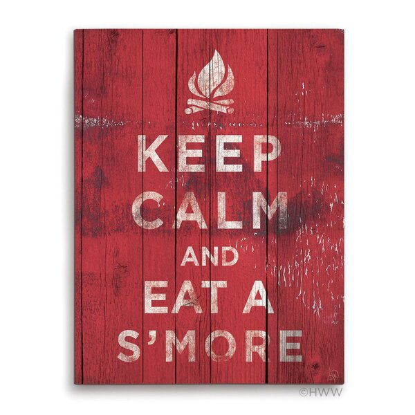 Keep Calm And Eat A Smore Textual Art Plaque by Click Wall Art