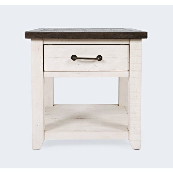 Westhoff Solid End Table With Storage By Gracie Oaks