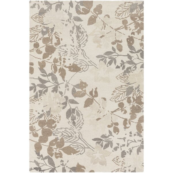 Heather Hand-Tufted Cream/Taupe Area Rug by Winston Porter