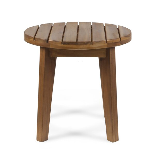 Matsumura Wooden Side Table by Union Rustic
