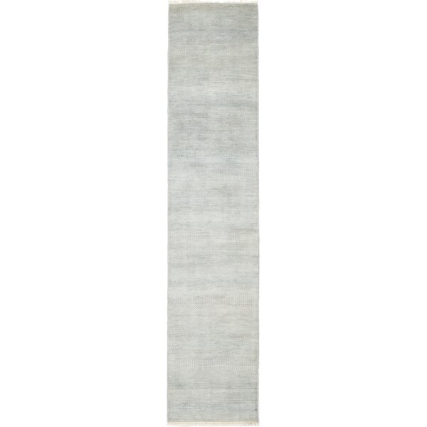 One-of-a-Kind Devonta Hand-Knotted Wool/Silk Blue Indoor Area Rug by Isabelline