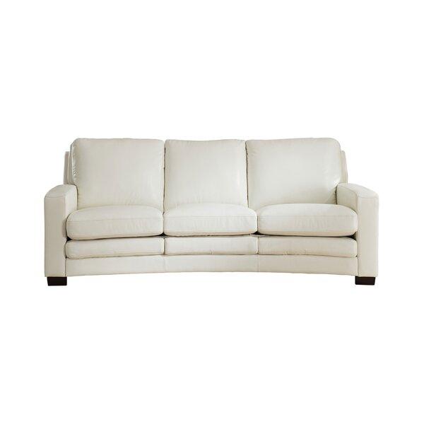 Theodora Leather Standard Sofa by Three Posts
