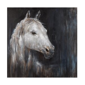 Mystical Horse Painting on Wrapped Canvas by Loon Peak
