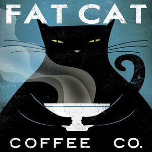 'Cat Coffee No City' by Ryan Fowler Vintage Advertisement on Wrapped Canvas by East Urban Home