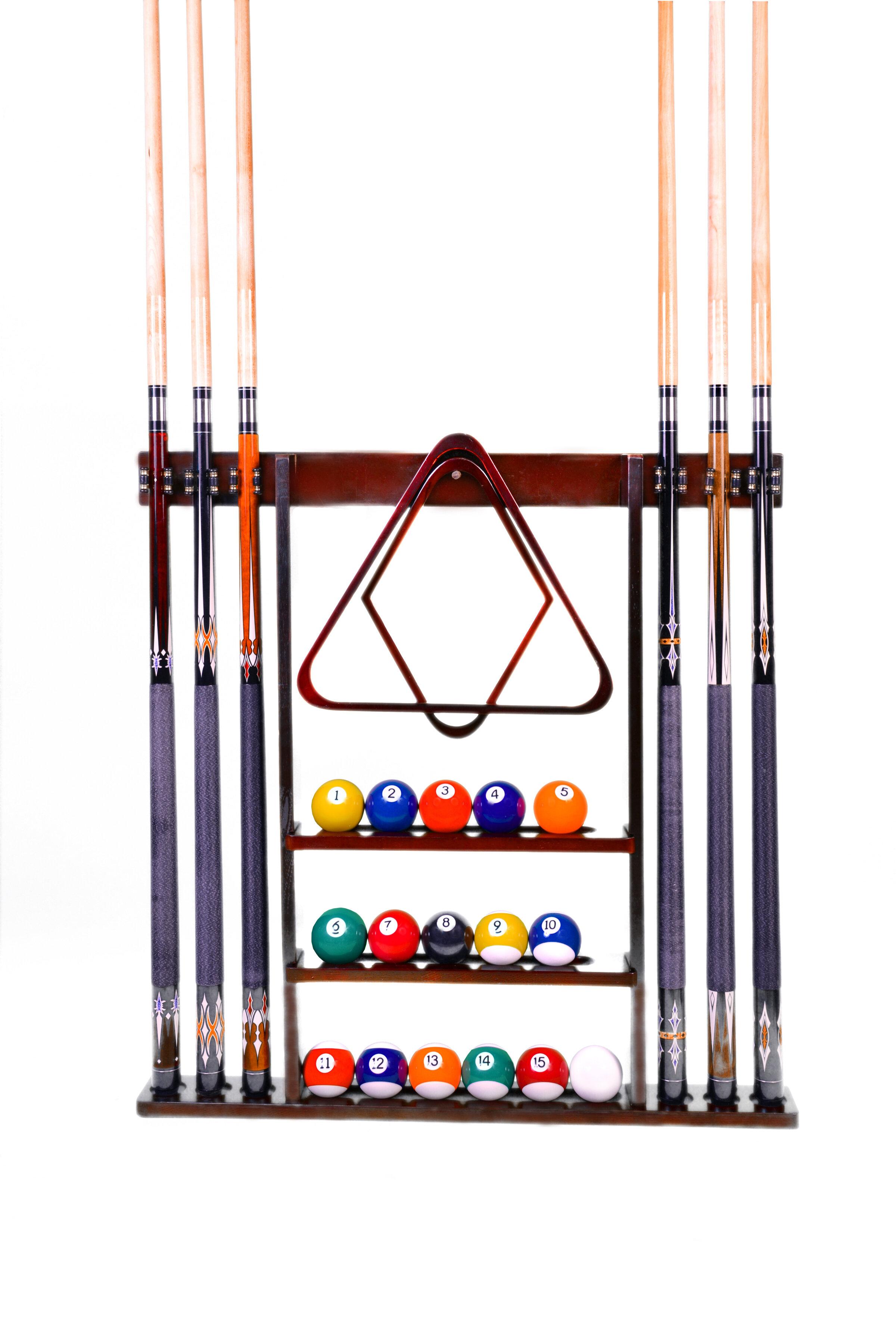 Iszy Billiards 6 Cue Wall Rack