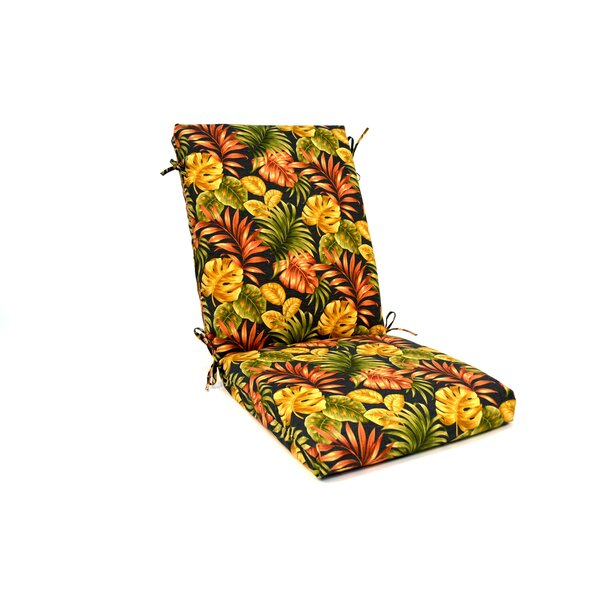 Tropical Floral High Back Indoor/Outdoor Lounge Chair Cushion (Set of 2) by Wildon Home ®