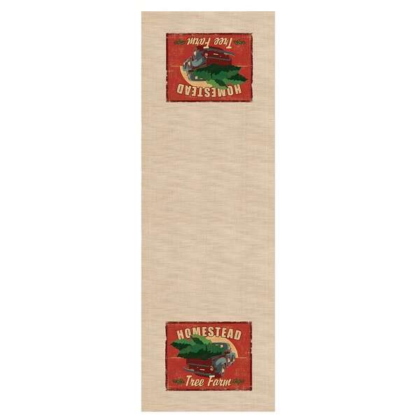 Signs of Christmas Homestead Table Runner by Heritage Lace