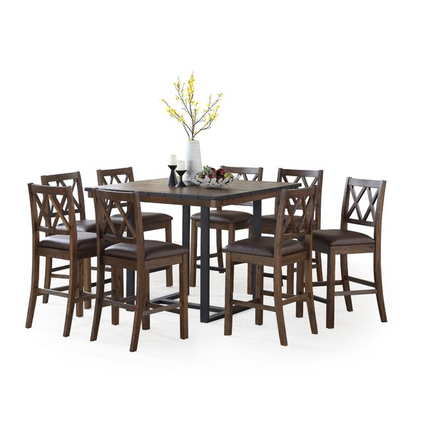 Word 9 Piece Counter Height Dining Set by Gracie Oaks