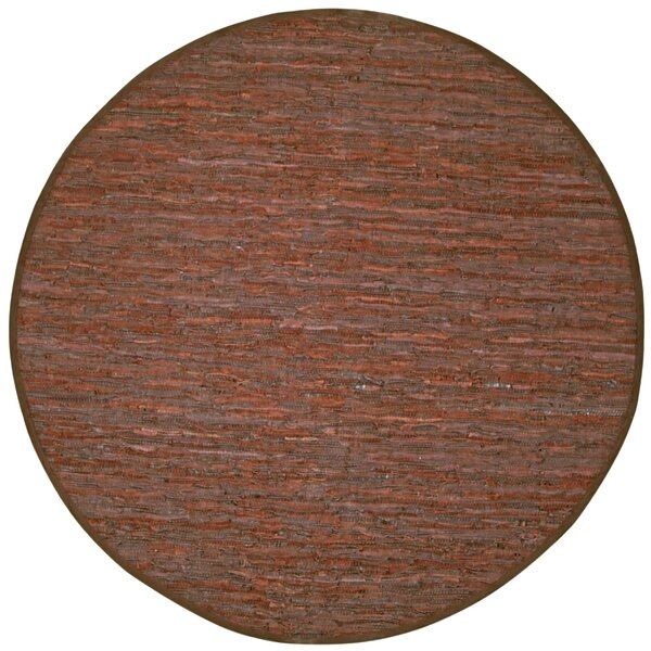 Sandford Chindi Hand Woven Leather/Cotton Brown Area Rug by Latitude Run