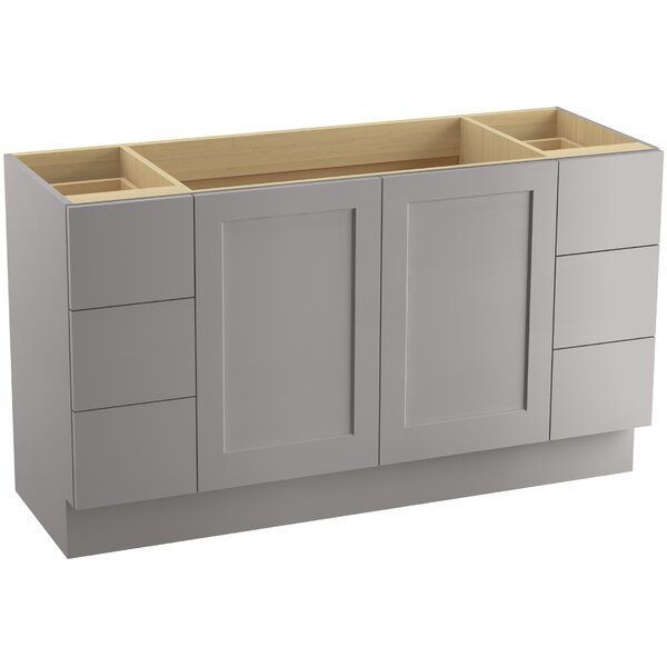 Poplin™ 60 Vanity with Toe Kick, 2 Doors and 6 Drawers by Kohler