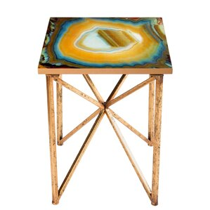 Or Agate End Table by Statements by J