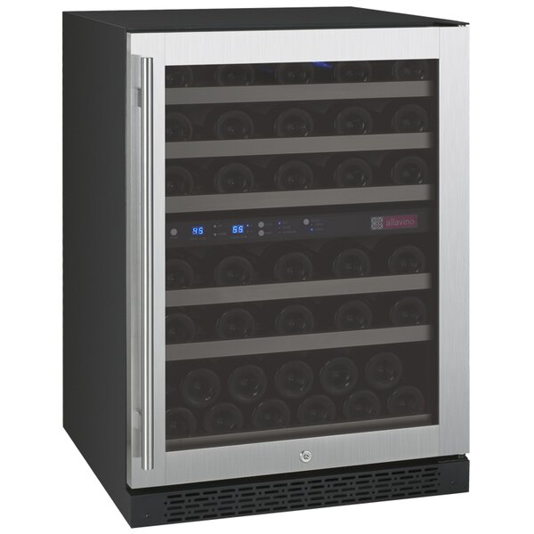 56 Bottle FlexCount Series Dual Zone Convertible Wine Cooler by Allavino