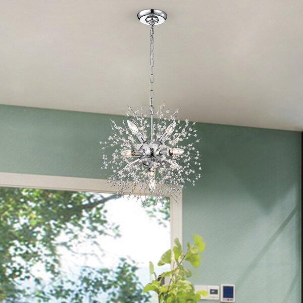 Marta 8 - Light Sputnik Sphere Chandelier with Crystal Accents by Willa Arlo Interiors Willa Arlo Interiors